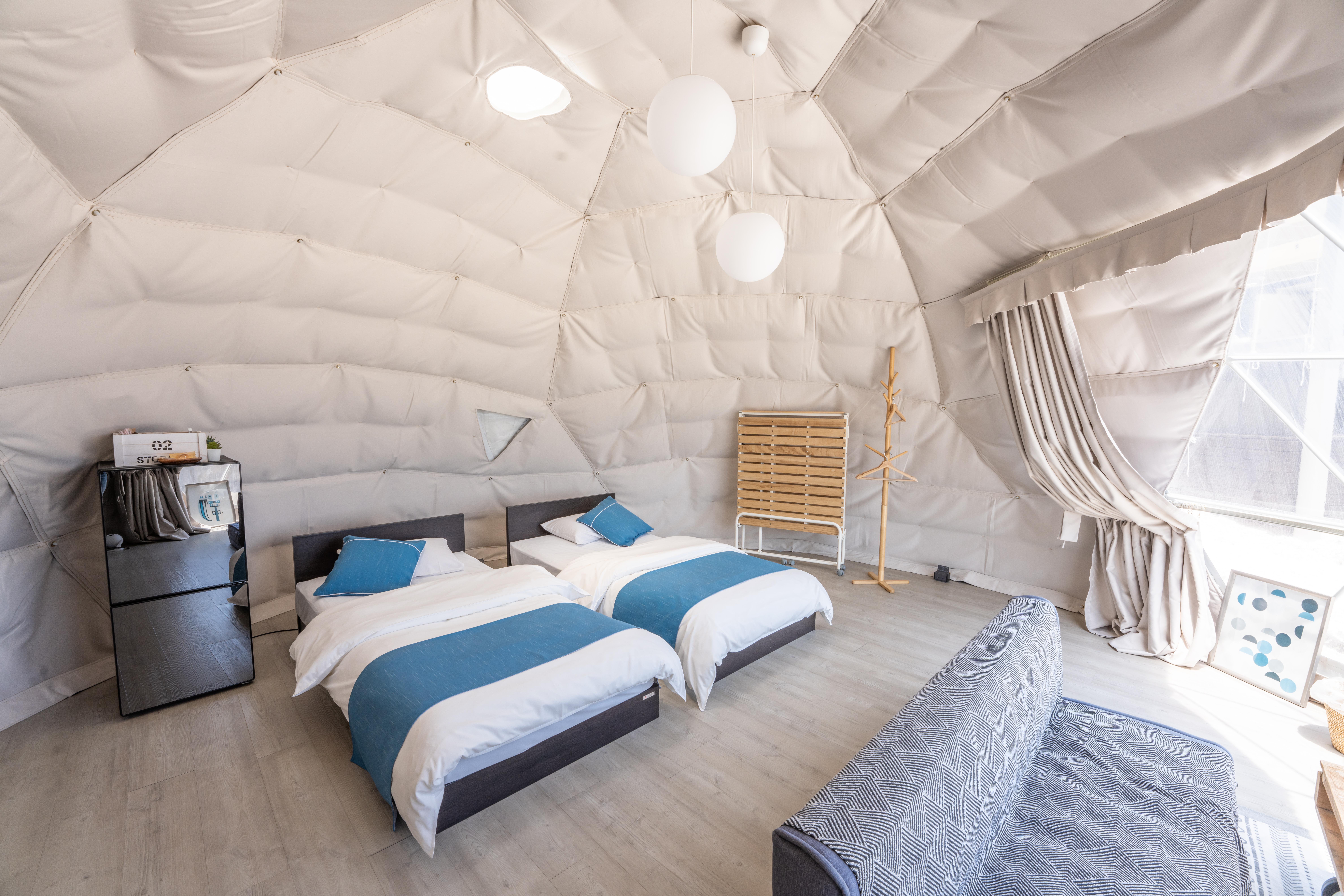 ドームテント室内
