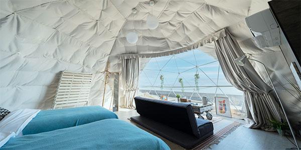全天候型の大型ドームテント